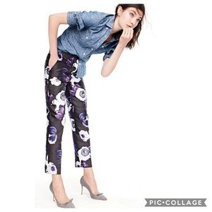 J Crew Patio Pant In Violet Poppy